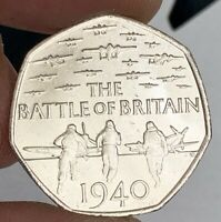 2015 Battle of Britain 75th anniversary 50p Fifty Pence Coin