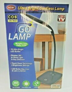 Go Lamp Cordless LED Table Lamp 3 Brightness Levels 360 degree as seen on tv