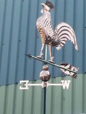 Wetterhahn Wetterfahne Hahn Kupfer Messing 1,43 Meter hoch für Dach