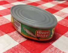 Artificial Faux Play Fake Food Magnet Kitchen Mini Can Salmon Fish