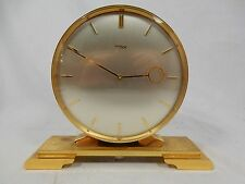 Rare IMHOF Tischuhr mit 2 Zifferblättern / table clock with 2 faces working
