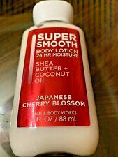 Bath & Body Works Japanese Cherry Blossom Super Smooth Body Lotion 3 oz Travel*