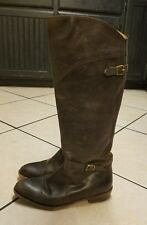 FRYE Dorado Buckle Riding Boots WOMENS SZ 10 Espresso Brown Leather KNEE HIGH