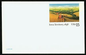 #UX123 15c Iowa Territory Sesquicentennial, Mint ANY 5=