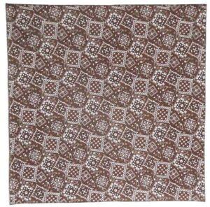 """Bandanna on Brown Bandanna  print 100% Cotton #399 Handmade 21"""" X 21"""""""