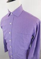 Tommy Hilfiger Men's Regular Fit Long Sleeve Dress Shirt size 16 34/35 Purple