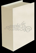 Graphic45 Staples-IVORY BOOK BOX w/(3) REG IVORY TAGS & BINDER RING scrapbooking