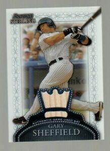 Gary Sheffield 2005 Bowman Sterling Authentic Game Used Bat