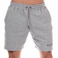 Mens Nicce Original Logo Jog Shorts in Grey