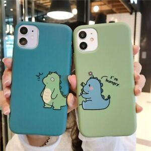 Couple Phone Case Cute Cartoon Animal Dinosaur For iPhone 11 Pro Max X XS XR 7 8