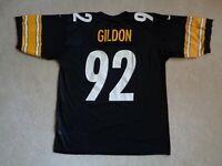 Men's NIKE NFL Pittsburgh Steelers Jason Gildon Black Football Jersey - Size L