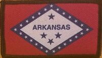 Arkansas State Patch With VELCRO® Brand Fastener Tactical  Emblem