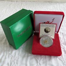 IRELAND 2003 SPECIAL OLYMPICS 10 EURO SILVER PROOF WITH GOLD DETAIL - complete