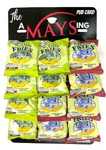 Smiths Bacon Scampi Fries Bar Snacks 12 Packs on 'The AMaysing' Pub Hanging Card