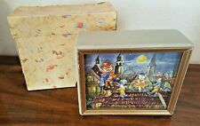ANTIQUE German DANCING CATS Music Box in Original Box