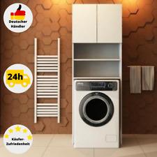 Waschmaschinenschrank 180x64 cm Weiß Untergestell Regal Badschrank Hochschrank