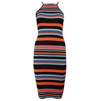 SUPERDRY TIANAMIDI WOMENS MULTI COLOURED STRIPE DRRESS