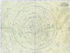 Alte Landkarte Südlicher STERNENHIMMEL Milchstraße Sternzeichen Krebs Löwe 1875