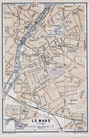 72 Le Mans 1899 pt. plan ville orig + guide angl. (4 p) Bvd de la Petite Vitesse