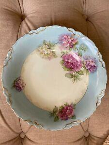 Vintage pastel blue pink floral pattern Bavaria dish / bowl ideal serving salad