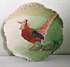 Limoge Vintage Game/Pheasant Hand Painted Signed Scalloped Plate