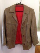 Vintage Suede Jacket Light Brown Sz Women's 12/14/16 Men's XS/S Very Soft