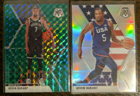 2x Kevin Durant 2019-20 Mosaic Silver Prizm USA SP #251 + Green #1 🔥 Lot of 2!