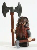 NEW LEGO LOTR BATTLE DWARF GIMLI MINIFIGURE & AXES THE HOBBIT - GENUINE