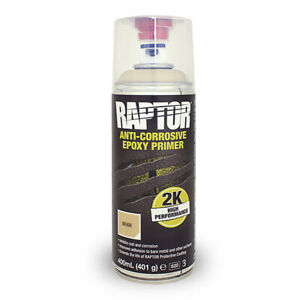 Upol Raptor Anti-Corrosive Epoxy Primer - Beige - 400ml Aerosol Can