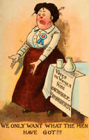 OLD PHOTO Vintage Lampooning The Suffragette Movement