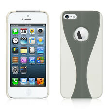 Gray / White 2 Piece Curve Back Cover Case for iPhone 5 / 5S