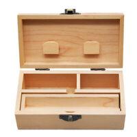 1 X Wood Stash Box With Rolling Tray Natural Handmade Smoke Storage Box
