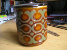 retro Hornsea pottery  lidded preserve pot Bronte pattern excellent condition