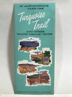 1965 TURQUOISE TRAIL MAGIC CIRCLE TRIPS Albuquerque New Mexico Chamber Brochure