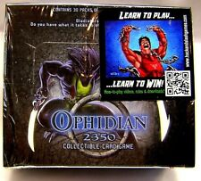 Ophidian 2350 Collectible Card Game (30) 11 card Booster Packs Box ... 2003