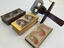 More details for antique stereocope and 54 cards biblical landscapes stereoview stereoscopic