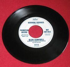 """GLEN CAMPBELL """"BURNING BRIDGES"""" PROMO RARE 1966 CAPITOL P-5773 LQQQK!!"""
