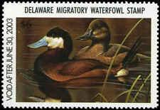 Delaware #23 2002 State Duck Ruddy Duck by George Lockwood