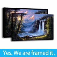 Bear of Beneath The Falls  Painting HD Print on Canvas Home Decor Wall Art 12x18