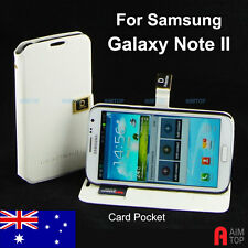 Pu Leather Flip Stand Case with Card Pockets for Samsung Galaxy Note II 2