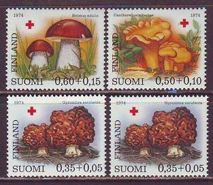 Finland 1974. Mushrooms 3v + 1 v. MNH.**