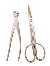Bonsai Werkzeugset Edelstahl Profi: Schere lang, Drahtschneider 18cm (QE-Ws003)