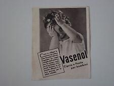 advertising Pubblicità 1941 CIPRIA E PASTA PER BAMBINI VASENOL
