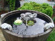 Steinfiguren  Wasserspeier Garten Deko-Gartenfigur Koi Teich Wasserspucker