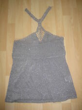 Womens Size 12 Silver Halter Top from Next
