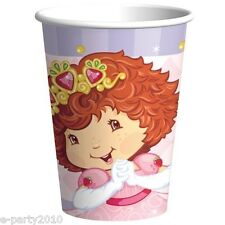 STRAWBERRY SHORTCAKE PRINCESS 9oz PAPER CUPS (8) ~ Birthday Party Supplies Drink
