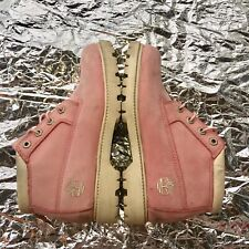 Timberland Size 7.5 M UK 5.5 Ladies Boots Pale Pink Leather Lace Ups Chunky Sole