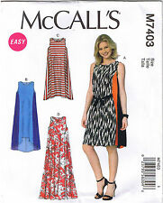 Easy Pullover Sleeveless Side Panel Dress Belt McCall Sewing Pattern L XL XXL