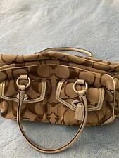 brown coach canvas handbag