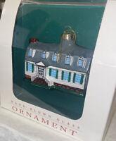 Colonial Williamsburg King's Arm Tavern Hand Blown Glass Christmas Ornament